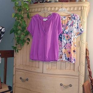 St. John's Bay bundle, 2 blouses